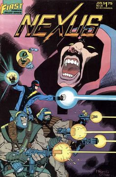 Nexus #28, January 1987, cover by Mike Mignola