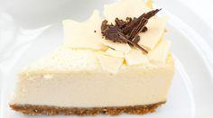 Pastel de queso con chocolate blanco