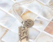 Inspirational necklace, personalized hand stamped intials,Find Joy in the Journey, graduation gift, wedding gift, anniversary inspiration - pinned by pin4etsy.com