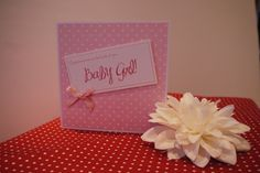 New Baby Girl Handmade Card from my Facebook Page a dog called dill