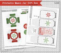 Printable Mason Jar Gift Box by Jen Goode