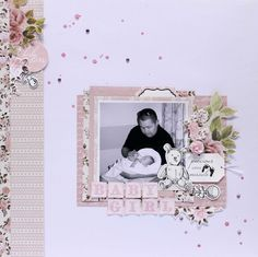 Neat and Crafty: Pitter Patter - Kaisercraft DT Little Baby Girl, Little Babies, Baby Boy, Baby Scrapbook, Scrapbook Pages, Baby Girl Cards, Card Envelopes, Studio Calico, Scrapbooking Layouts
