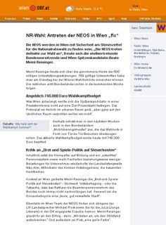 """""""NR-Wahl: Antreten der NEOS in Wien fix""""  -  Bericht vom 10.7.2013 auf http://wien.orf.at/news/stories/2592421/"""