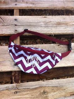 Monogrammed Fanny Pack Chevron Pattern in Many by ShopEllieBelle