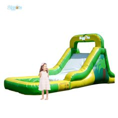 (843.00$)  Know more  - High Quality  PVC Commercial Inflatable Water Slide With Pool