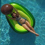 Flōtēz Inc. Giant Inflatable Avocado Pool Float Lounge x 3 Foot with Beach Ball Pit Food Pool Floats, Funny Pool Floats, Giant Pool Floats, Pool Floats For Adults, Big Pools, Cool Pools, Swimming Pools, Pool Float Storage, My Pool