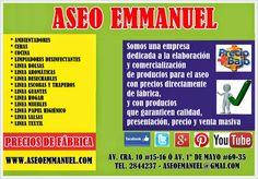 ASEO EMMANUEL: ¿QUÉ OFRECE ASEO EMMANUEL?