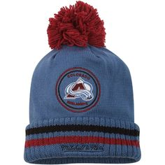 timeless design ef0eb 1d639 Men s Colorado Avalanche Mitchell  amp  Ness Blue Big Man Hi Five Cuffed  Knit Hat,