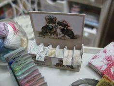 Dollhouse Miniature. Box of Haberdashery by JillysLittleGifts