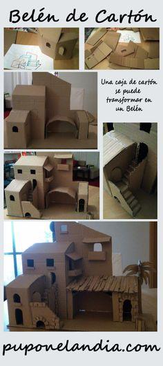 Belén - estructura de cartón - puponelandia.com                                                                                                                                                                                 Más