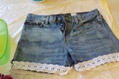 DIY Tutorial DIY Shorts / DIY Waisted Denim Shorts - Bead&Cord