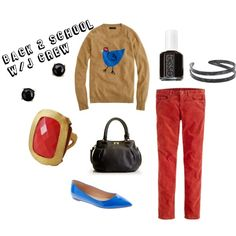 """""""Back to School with J Crew"""" by beautybesties1 on Polyvore"""