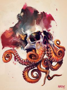 Octopi have become the skulls of the sea.