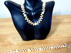 Handmade pink Genuine  freshwater pearl necklace by jewlerystar