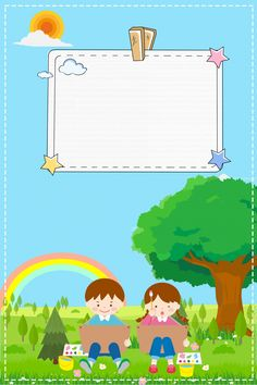Admissions Poster Kindergarten Green Cartoon – Gardening for beginners and gardening ideas tips kids Blue Background Images, Kids Background, Background Powerpoint, Background Templates, Boarder Designs, Cartoon Expression, Cartoon Trees, Bunny Painting, School Frame