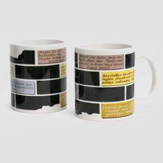 ceramic mug personalized for the MdbK Leipzig with the work of artist Paule Hammer. Mug Art, Art Work, Tableware, Dinnerware, Museums, Artworks, Mugs, Artists, Leipzig