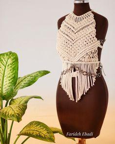 Macrame Dress, Macrame Cord, Macrame Necklace, Macrame Knots, Dress Sewing Patterns, Modern Outfits, Ready To Wear, Fashion Show, Style Inspiration