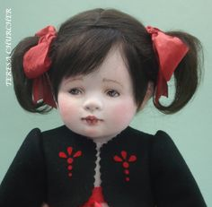OOAK artist cloth doll  OGLD by clothchick on Etsy - Created by Teresa Churcher