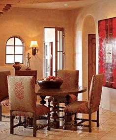 dining   round table    spanish colonial