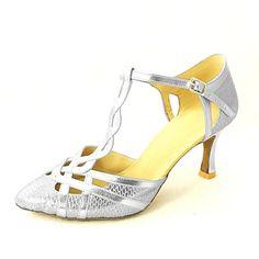 Sapatos de Dança ( Preto/Azul/Vermelho/Prateado/Dourado ) - Mulheres - Customizáveis - Moderno/Sapatos Padrão – EUR € 29.69