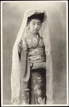 1912 Tokyo Japan - Famous Geisha Teruha