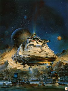 John Berkey   #science #fiction #space