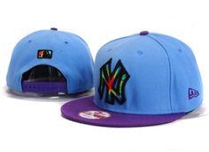 Casquette NY New York Yankees MLB Snapback Bleu Pourpre Casquette New Era Pas Cher