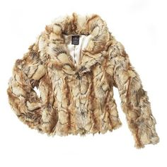 I need this jacket! tan vintage faux fur