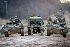 Battalion Princess of Wales's Royal Regiment Warrior IFV's being re-fuelled from an Oshkosh Wheeled Tanker during NATO Exercise Allied Spirit 8 British Armed Forces, Princess Of Wales, British Army, Military Vehicles, Monster Trucks, Germany, Exercise, Spirit, Tanks