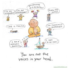 禅 ॐ Ẑƹᘉ ॐ 禅 ~ You are not the voices in your head. ~ Buddha Doodles