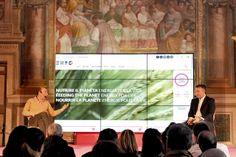 """Roberto Arditti durante il talk """"Ti presento Expo 2015"""" nel pomeriggio del 3 maggio."""