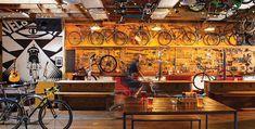 Velo Cult bike shop in Portland, OR. Bicycle Cafe, Bicycle Shop, Buy Bike, Bike Run, Bike Shops, Road Bike, Bike Repair Stand, Bicycle Storage, Café Bar