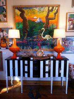 The Sasha sideboard and  midcentury Lamps by REVELationDECOR