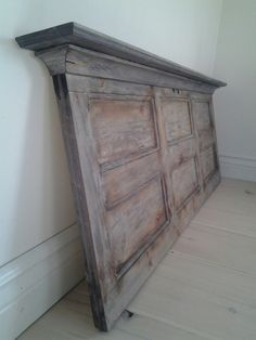 Distressed Furniture, My Furniture, Vintage Ladder, Old Doors, Magnolia Homes, Headboards For Beds, Home Bedroom, Master Bedroom, Bedrooms