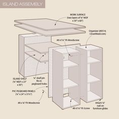 Custom Craft Island Made with Organizers | My Home My Style eNotes