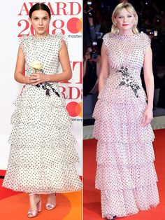 The best star twinning moments of the week, brought to you by Olivia Munn, Katharine McPhee and more stylish celebrities! Keke Palmer, Kirsten Dunst, High Fashion, Womens Fashion, White Pumps, Millie Bobby Brown, Red Carpet Dresses, White Dress, Dress Black