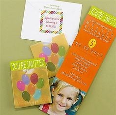 Up, Up and Away Birthday Party Invitation