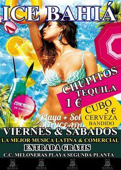 Ven este fin de semana al Ice Bahia y disfruta de un cubo de 5 cervezas BANDIDO por tan solo 5€ y si lo prefieres lo puedes acompañar de chupitos de tequila por tan solo 1€ cada uno y por supuesto disfrutando del mejor ambiente y la mejor música variada de la mano de nuestro DJ King Inoveeytor....te esperamos #fiesta #meloneras #bandido #tropical #tequila1 #maspalomas #playa.