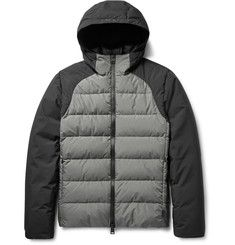 Herno Laminar - Two-Tone Quilted GORE Windstopper® Hooded Down Jacket