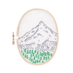 Portland's Mount Hood Embroidery Kit Studio MME