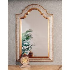 Bassett Mirror Arched Gold & Silver Finish Bevel Wall Mirror