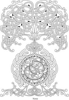 Tangled Celtic tree of life Tattoo Coloring Book, Mandala Coloring, Colouring Pages, Coloring Books, Celtic Mandala, Celtic Art, Tree Of Life Artwork, Celtic Symbols, Celtic Knots