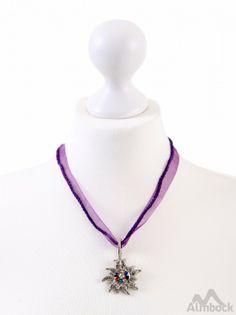 http://www.trachten24.eu/Trachtenkette-Edelweiss-mit-bunten-Steinen-K18 - Trachtenkette Edelweiss mit bunten Steinen (K18) - Bavarian necklace edelweiss colored stones(K18)