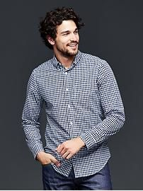 Lived-in wash gingham shirt