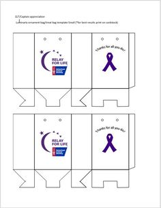 Small - Made these to appricate our ELT and team captains for Relay Relay For Life, Volunteers, 4 Life, Cancer, Party, Ideas, Parties, Thoughts