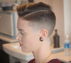 There is Somthing special about women with Short hair styles. I'm a big fan of Pixie cuts and buzzed cuts. Enjoy the many different styles. Short Shaved Hairstyles, Undercut Hairstyles Women, Short Hair Undercut, Girls Short Haircuts, Girl Hairstyles, Pixie Haircuts, Short Hair Cuts For Women, Short Hair Styles, Buzzed Hair