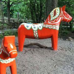 Stockholm - traditional Swedish wooden horses #tbexstockholm #lovestockholm #stockholm #swedishhorse #visitstockholm #tbex #jillswedishhorses