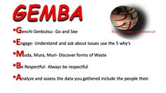 "This week's ""Listen to the Gemba"" is onGoing to the Gemba. Subscribe to www.leanstrategiesinternational.com for free Continuous Improvement tips."