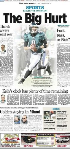 This Mornings Inquire after the Eagles Loss. Geaux Saints