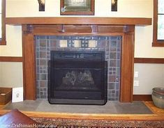 Image result for Craftsman Style Fireplace Mantels